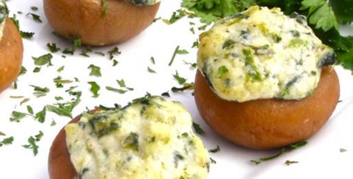 Champignons farcis jambon et boursin