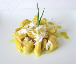 Poulet ananas coco