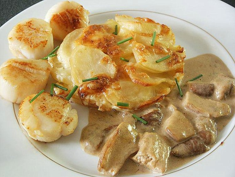 Fricass e de st jacques aux c pes recettes cookeo - Comment cuisiner des noix de saint jacques ...