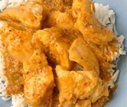 Poulet au yaourt et curry