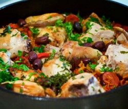 One pot pasta poulet basquaise
