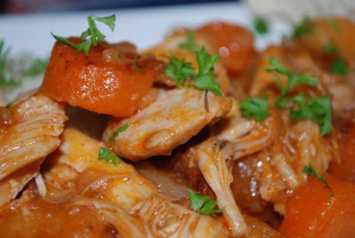 Poulet la tomate recettes cookeo - Cuisse de poulet au vin blanc ...