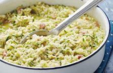 Risotto Courgette Lardons