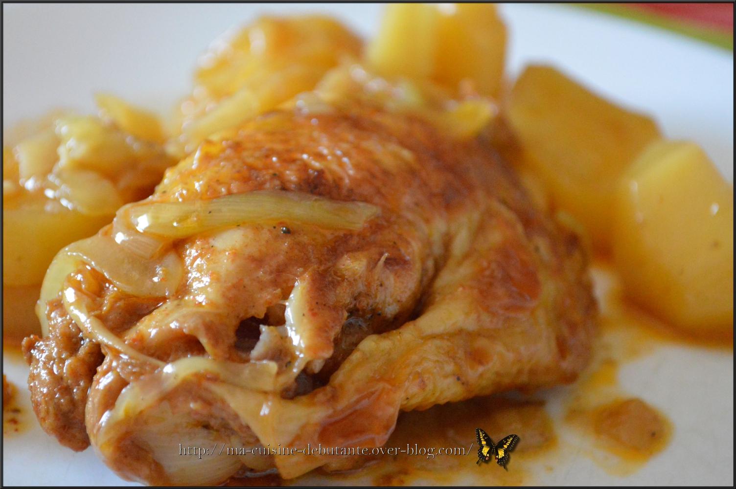 Poulet pomme de terre recettes cookeo - Comment cuisiner les cuisses de poulet ...
