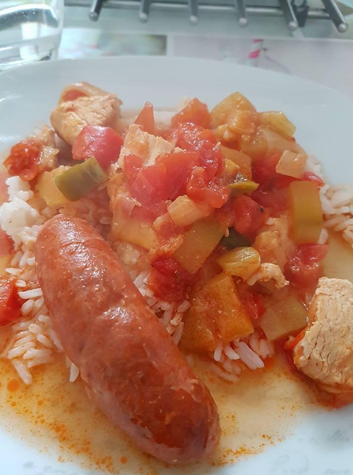 poulet chorizo tomates poivrons courgette recettes cookeo. Black Bedroom Furniture Sets. Home Design Ideas